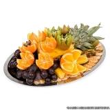 frutas cortadas bandeja Chácara Itaim